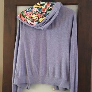 PINK Victoria's Secret Jackets & Coats - S PINK Lightweight Zip Up Hoodie with Florals